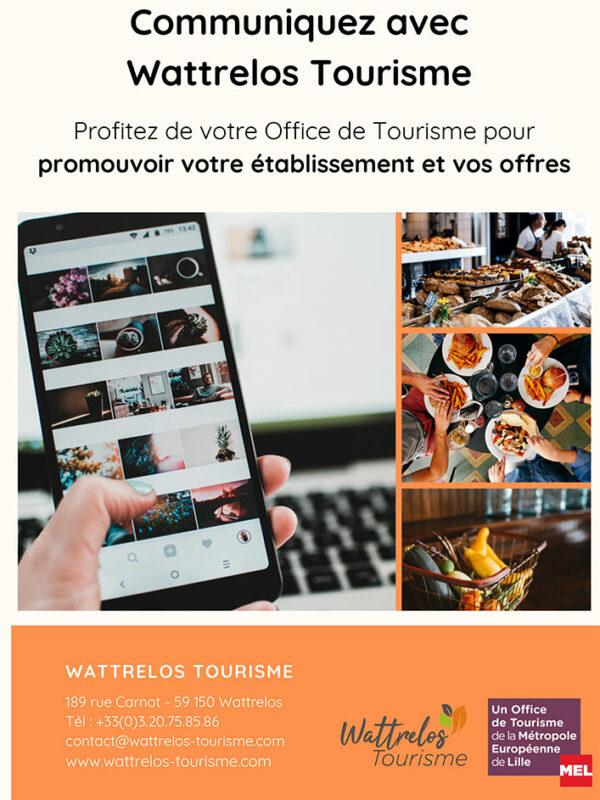 Communiquer avec Wattrelos Tourisme
